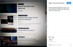 fist instagram post