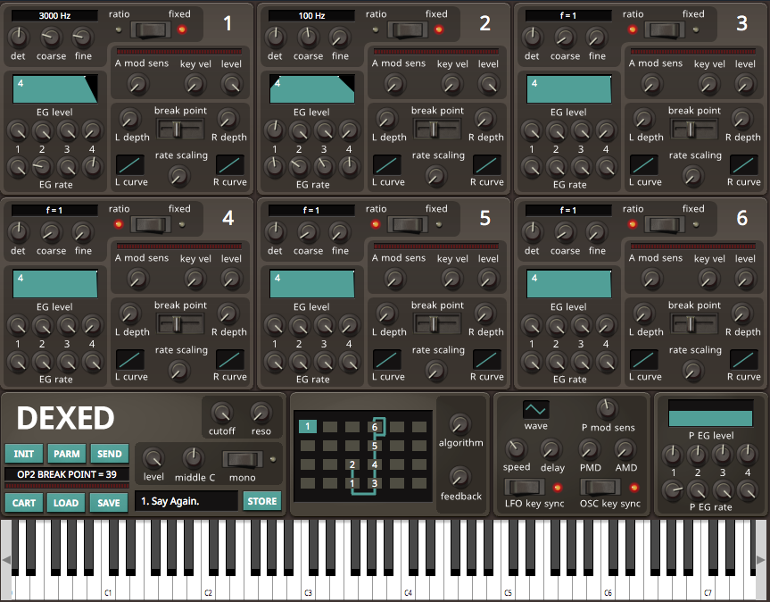 Dexed – A Free FM Synthesizer